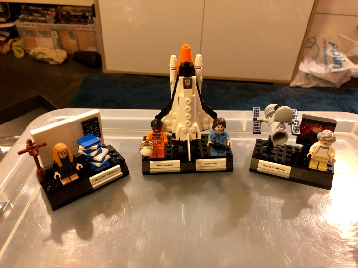 The complete Women of NASA LEGO Ideas set